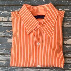 🔥 Ralph Lauren Purple Label orange stripe shirt